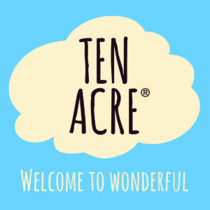 Ten Acre logo (blue) Strapline