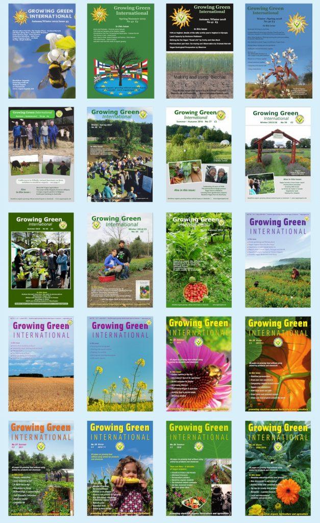 Covers vegan organic network magazine vegetarian animal free