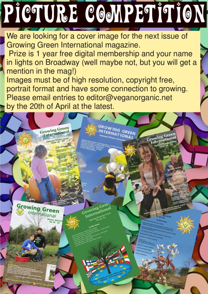 Growing Green INternational Cover picture competition
